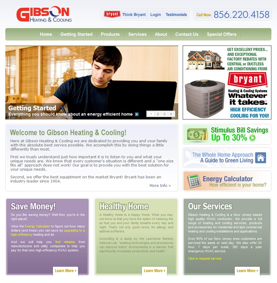 Ken Gibson, of Gibson Heating & Cooling, requested a website for his new  business in HVAC. Created a website that gave a wealth of resources to  educate ...